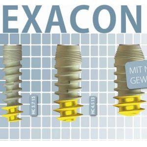 Hexacone with abutment Implant